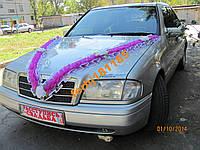 Свадебное украшение на капот автомобиля