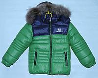 Зимняя куртка для мальчика 4-8 лет Cankesya зеленая