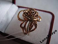 Серебряное кольцо РОЗА 925 покрыто золотом750 р.18