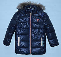 Зимняя куртка для мальчика 2-6 лет Runyifushi темно-синяя