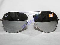 Очки Ray Ban AVIATOR 3025 Серебро Зеркальные 400UV
