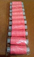 Нитки для ручного шитья розовая