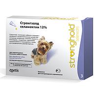 Капли Стронгхолд (Stronghold) маленькие собаки (2,6-5,0 кг) 3 пипетки 30 мг (0,25 мл)