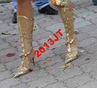 Босаножки носок железо золото летние 38р