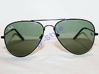 Очки Ray Ban AVIATOR 3026 Черный Зеленый СТЕКЛО
