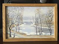 Картина Ранняя весна 17х25  масло/холст в рамке