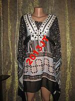 Туника платье камни черное   с-м