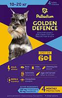 Palladium GOLDEN DEFENCE Капли на холку для собак весом от 10 до 20 кг 4 пипетки