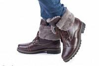 Ботинки зимние натуральная кожа и мех код 407