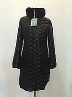 Стеганное женское зимнее пальто пуховик больших размеров