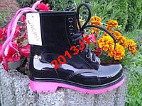 Резиновые сапоги ботинки шнуровка