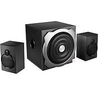 Колонки 2.1 F D A521 Black / Sub: 20Вт, Sat: 2x16Вт / 20-20000Hz / МДФ / RCA /  USB ридер, кардридер SD-MMC-MS, управление сбоку