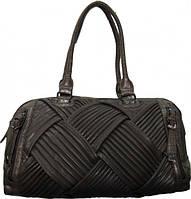 Женская сумка - Кожзаменитель. Коричневая 40х22х16