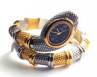 Браслет - часы. ЗМЕЯ Серебряно-Золотой цвет