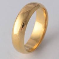 Покрытое золотом 9k Обручальное кольцо 20 мм