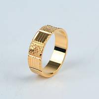 Покрытое золотом 18k Обручальное кольцо 18 мм =