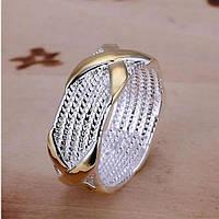 Кольцо Ниточки с Бантиками - Покрытие серебром 925