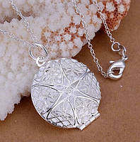 Кулон МЕДАЛЬОН открывающийся - Покрыт серебром 925