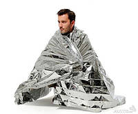 Спасательное термо одеяло 210x130 серебристое