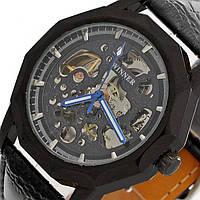 Мужские часы Winner с Автоподзаводом скелетон черн
