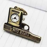 Брелок - Кулон - Часы. ПИСТОЛЕТ + карабин + цепь