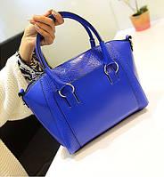 Стильная модная женская сумка под рептилию
