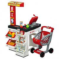 Интерактивный супермаркет Smoby с электронной кассой и тележкой (350203)