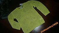 Новая Кофта свитер желтая для девочки, 7-8 лет, вя