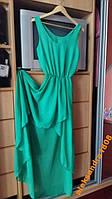 Женское длинное зеленое платье M-L, размер 38, 40,