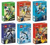 Конструктор шарнирный Bionicle 6 видов 609-1-6