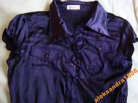 Женская фиолетовая шелковая рубашка, блуза Orsay