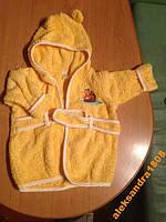 Халат махровый банный желтый Disney 0-9 месяцев