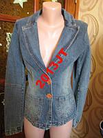 Пиджак мото джынсвый хс-с