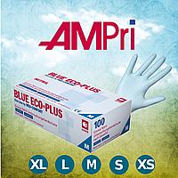 Перчатки нитриловые без пудры голубые (100 шт.) BLUE ECO-PUS, AMPri