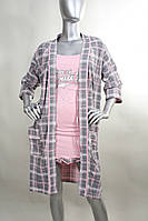 Комплект  ночная сорочка и халат  Nicoletta