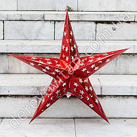 Бумажная звезда для декора, красная, 53 см