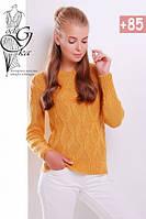 Шерстяной женский свитер с акрилом Марта