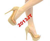 Акция туфли  сетка+иск.замш каблук 13,5 см
