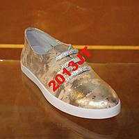 Туфли кожа Мраморные с камнями