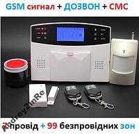 GSM сигнализация с LCD экраном СМС - РУССКИЙ ГОЛОС