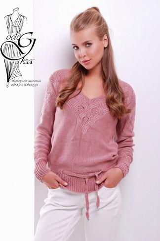 Фото Вязаных шерстяных женских свитеров Муза-4 с акрилом