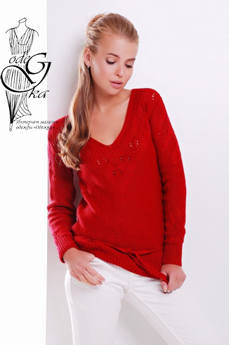 Фото Вязаных шерстяных женских свитеров Муза-5 с акрилом