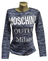 Реглан женский теплый moschino