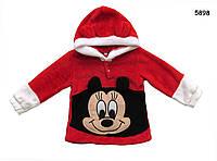 Меховая кофта Minnie Mouse для девочки. 80, 90, 100, 110, 120 см