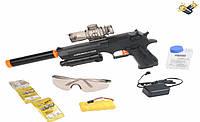 Пистолет на аккумуляторе RX6009, стреляет очередью и одиночными выстрелами разрывными гелевыми шариками
