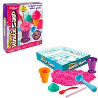 Пісок для дитячої творчості - KINETIC SAND ICE CREAM (рожевий, формочки, 283 г)