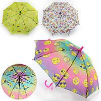 Зонтик детский MK 0862 (60шт)  длина49,5см,трость61см,диам.78см,спица44см,ткань,рисун,свисток,3вида