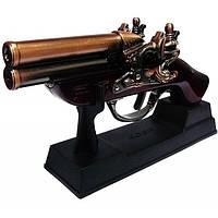 Зажигалка мушкет сувенирная настольная в виде старинного ручного огнестрельного оружия