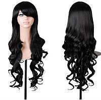 Парик длинные волосы волна Черный