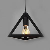 Подвесной светильник [ Black Triangle Loft ] (треугольник)